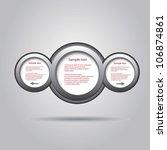 abstract glossy speech bubble.... | Shutterstock .eps vector #106874861