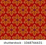 multicolor geometric floral... | Shutterstock .eps vector #1068766631