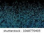 dark blue vector hearts... | Shutterstock .eps vector #1068770405