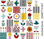 Folk Art Pattern In...