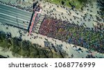 aerial view from drone on crowd ... | Shutterstock . vector #1068776999