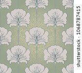 vintage seamless pattern with... | Shutterstock .eps vector #1068787415