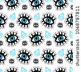 eyes patches seamless pattern.... | Shutterstock . vector #1068787811