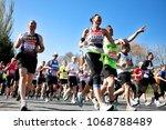 london   april 22  runners in...   Shutterstock . vector #1068788489