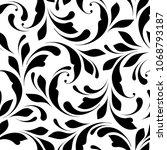 floral seamless pattern.... | Shutterstock .eps vector #1068793187