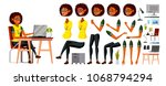 african black business woman... | Shutterstock .eps vector #1068794294