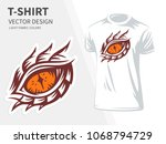 dragon eye vector illustration... | Shutterstock .eps vector #1068794729