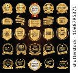 golden labels and badges vector ... | Shutterstock .eps vector #1068795371