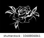black and white drawing of a... | Shutterstock .eps vector #1068806861