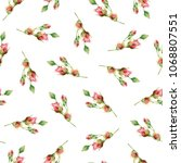 seamless floral pattern with... | Shutterstock . vector #1068807551