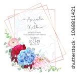 polygonal floral vector design... | Shutterstock .eps vector #1068811421