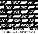 brush stroke pattern.... | Shutterstock .eps vector #1068811634