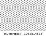 mesh net lines pattern cross... | Shutterstock .eps vector #1068814685