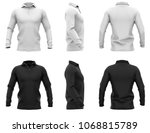men's white and black polo... | Shutterstock . vector #1068815789