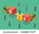 busines to business flat... | Shutterstock .eps vector #1068817697