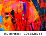 colorful shabby texture... | Shutterstock . vector #1068828365