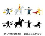 journey to the west characters... | Shutterstock .eps vector #1068832499