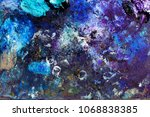 oil violet colors on art... | Shutterstock . vector #1068838385