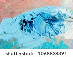 oil blue and white colors with... | Shutterstock . vector #1068838391
