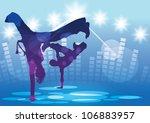 hiphop dance in discolight   Shutterstock .eps vector #106883957