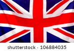 union jack flag to be used as... | Shutterstock . vector #106884035