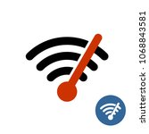wi fi icon with speedometer... | Shutterstock .eps vector #1068843581
