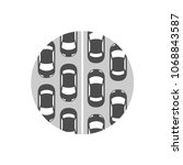 traffic jam icon. grayscale... | Shutterstock .eps vector #1068843587