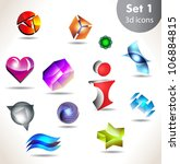 collection of glossy and shiny... | Shutterstock .eps vector #106884815