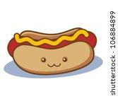 cute happy hot dog   Shutterstock .eps vector #106884899
