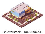 vector isometric low poly... | Shutterstock .eps vector #1068850361