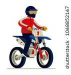 man in helmet riding motocross... | Shutterstock .eps vector #1068852167