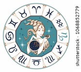 the capricorn astrological sign ... | Shutterstock .eps vector #1068852779