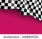 symbol racing canvas realistic... | Shutterstock .eps vector #1068854231