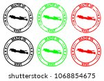 made in java   rubber stamp  ...   Shutterstock .eps vector #1068854675