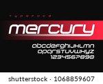 mercury futuristic sports font...   Shutterstock .eps vector #1068859607