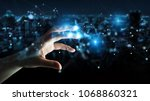 businessman on blurred...   Shutterstock . vector #1068860321