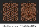 laser cutting set. woodcut...   Shutterstock .eps vector #1068867845