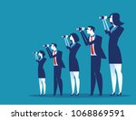 business vision. business team... | Shutterstock .eps vector #1068869591