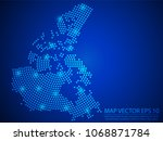 abstract image canada map from... | Shutterstock .eps vector #1068871784