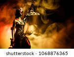 the statue of justice   lady... | Shutterstock . vector #1068876365