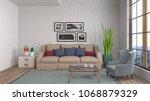 interior living room. 3d... | Shutterstock . vector #1068879329