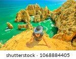 tourism in algarve. summer... | Shutterstock . vector #1068884405