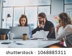 working process photo.group of... | Shutterstock . vector #1068885311