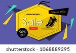 shoe banner  promotion banner   Shutterstock .eps vector #1068889295