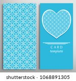 set of decorative cards with...   Shutterstock .eps vector #1068891305