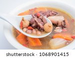chinese guangdong soup   fig...   Shutterstock . vector #1068901415