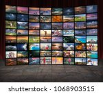 video wall in television... | Shutterstock . vector #1068903515