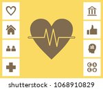 heart icon with bonus icons.... | Shutterstock .eps vector #1068910829