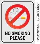 no smoking vector sign | Shutterstock .eps vector #1068911309