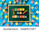 back to school. close up...   Shutterstock . vector #1068917357